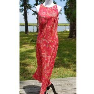 Ann Taylor sleeveless silk column dress